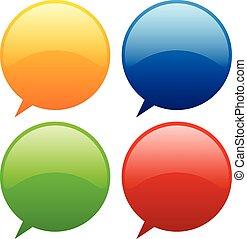 Speech, talk bubbles, balloons Speech, talk bubbles, balloons