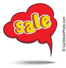 Speech text sale drawing vector - Speech text sale drawing...
