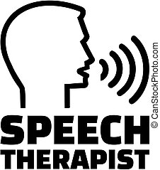 Speech therapist icon