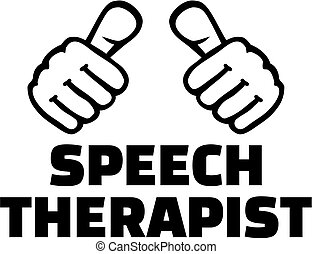 Speech therapist with thumbs - T-Shirt design