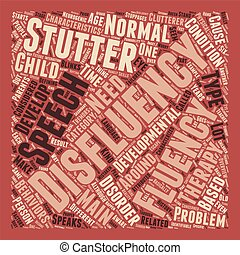 Speech Therapy An Overview On Fluency Disorders text background wordcloud concept