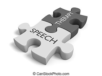Speech therapy concept for treatment of communication and...