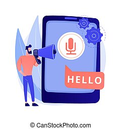 Speech to text abstract concept vector illustration. Multi-...