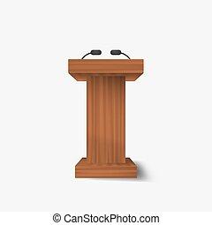 Speech vector podium .