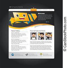 Speech Web site design template, vector