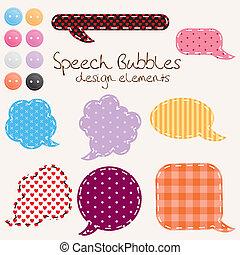 speech_bubbles - set of different speech bubbles, design...