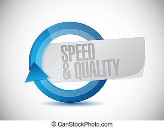 speed and quality cycle sign illustration