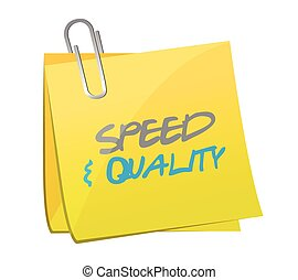 speed and quality post illustration