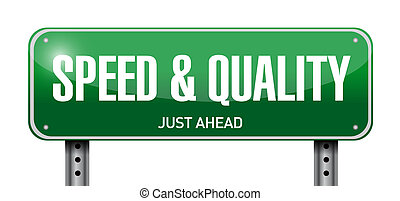 speed and quality road sign illustration