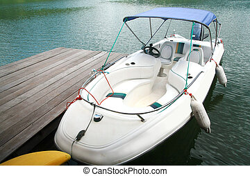 speed boat at port