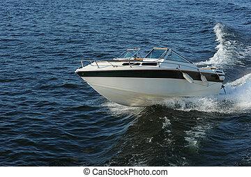 Speed Boat - Fast motor boat with splash