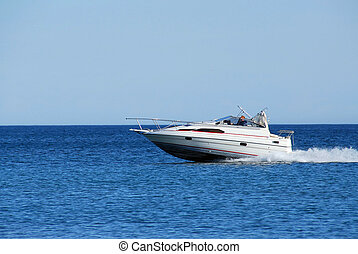 Speed boat - Fast moving speed boat