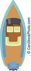 Speed boat icon, cartoon style - Speed boat icon. Cartoon...