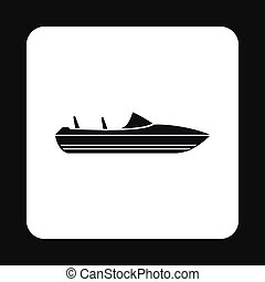 Speed boat icon, simple style - Speed boat icon in simple...