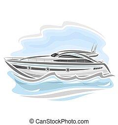 Speed boat - Vector illustration of logo for speed boat...