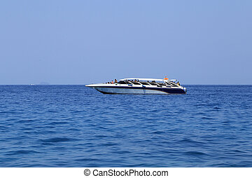 speed boat in the sea