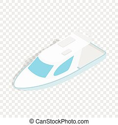 Speed boat isometric icon 3d on a transparent background...
