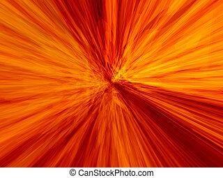 Speed burn - Dynamic flames core motion blur 3d image