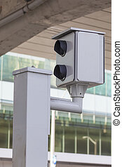 Speed camera at the road