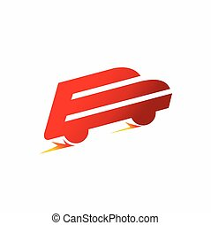 speed car logo, letter e logo