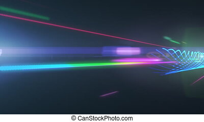 Lights traveling at extreme speed.