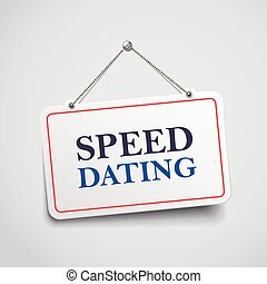 speed dating hanging sign