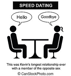 Speed Dating - Kevin and his short term relationship cartoon...