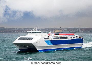 A fast catamaran ferry