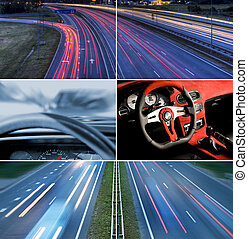 Speed highway collage