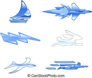Speed Icon Set Series Design Elements - A conceptual icon...
