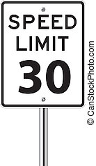 Speed limit 30 traffic sign