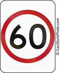 Speed Limit 60 in Australia
