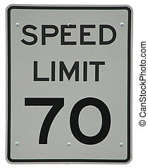 Speed Limit 70 sign