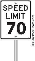 Speed limit 70 traffic sign