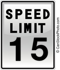 Speed Limit - an illustration of an american road signs
