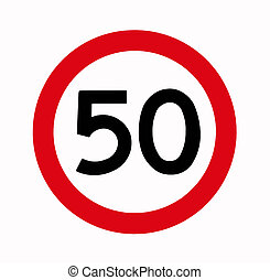 Speed Limit, 50, Fifty, Traffic Sign