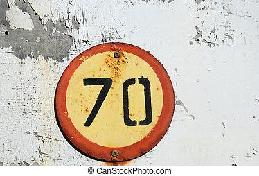 Speed limit sign - 70 km