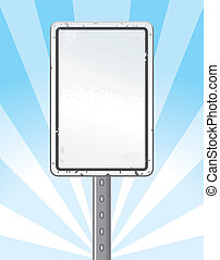 Speed Limit Sign - An illustration of a blank speed limit...