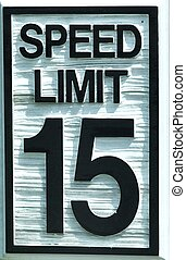 Speed Limit sign - A Speed Limit sign with black lettering...