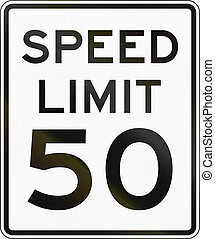 Speed Limit Sign - United States speed limit sign