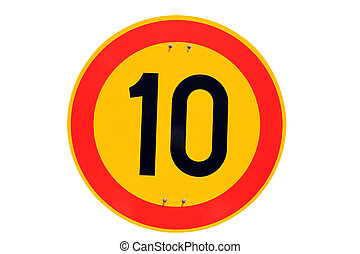 Speed Limit Traffic Sign 10 km/h