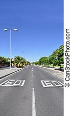 Speed Limit Two Lane Street