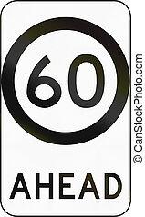 Speed Limit Zone Ahead In Australia