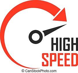 Speed minimalistic logo