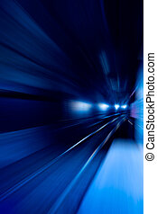 Speed Motion - A blue motion conept image - moving train