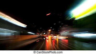 Speed Motion Blur - A motion blur with night driving
