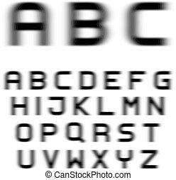 speed motion blur font alphabet letters