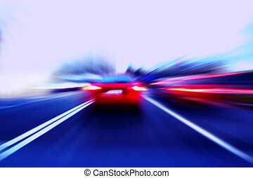 speed motion car on street
