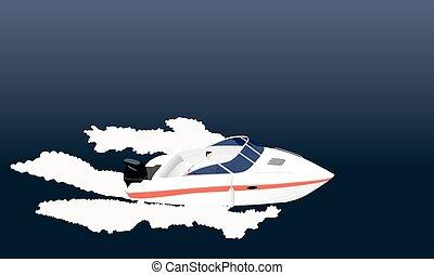 Speed motor boat