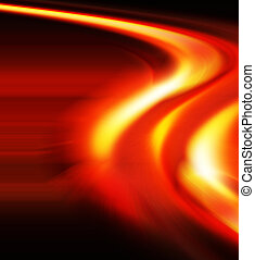 Speed of light - Abstract image depicting speed